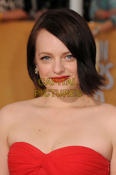 18 January 2014 - Los Angeles, California - Elisabeth Moss. 20th Annual Screen Actors Guild Awards - Arrivals held at The Shrine Auditorium. Photo Credit: Byron Purvis/AdMedia<br /> CAP/ADM/BP<br /> ©Byron Purvis/AdMedia/Capital Pictures