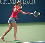 Petra Kvitova (CZE) loses to American Alison Riske,  6-3, 6-0 at the US Open being played at USTA Billie Jean King National Tennis Center in Flushing, NY on August 31, 2013