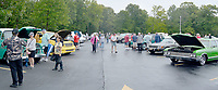 File photo<br /> A crowd of cars and observers filled the Highlands Church parking lot during its 2018 car show.