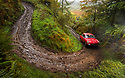 06/10/18<br /> <br /> Dean & Arthur Vowden, VW Notchback.<br /> <br /> After battling hours of heavy rain, competitors slither up a hill known as the corkscrew in near Kettleshulme in the Cheshire Peak District National Park. Hundreds of other cars and motorcycles took part in today's Edinburgh Trial. The Motorcyling Club's 94th annual long distance navigation trial started near Tamworth at midnight and finishes this afternoon near Buxton. The original trial ran from London to Edinburgh.<br /> <br /> All Rights Reserved: F Stop Press Ltd. +44(0)1335 344240  www.fstoppress.com www.rkpphotography.co.uk
