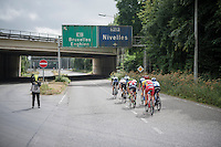 race leaders at juction: highway or route national?<br /> <br /> Brussels Cycling Classic 2016