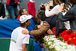 Rafa Nadal taking a selfie with fans during the Charity Day of the Mutua Madrid Open at Caja Magica in Madrid. April 29, 2016. (ALTERPHOTOS/Borja B.Hojas)