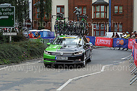 "An emergency replacement cycle vehicle during the Abergavenny Festival of Cycling ""Grand Prix of Wales"" race on Sunday 17th 2016<br /> <br /> <br /> Jeff Thomas Photography -  www.jaypics.photoshelter.com - <br /> e-mail swansea1001@hotmail.co.uk -<br /> Mob: 07837 386244 -"