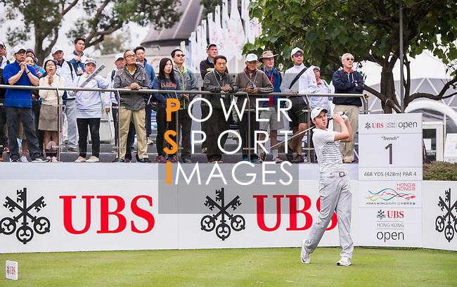 Ashley Chesters of England tees off during the day four of UBS Hong Kong Open 2017 at the Hong Kong Golf Club on 26 November 2017, in Hong Kong, Hong Kong. Photo by Marcio Rodrigo Machado / Power Sport Images