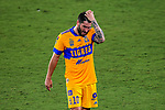 Forward Andre-Pierre Gignac of Tigres UANL (MEX) reacts during their Scotiabank CONCACAF Champions League Quarter Finals match against New York City FC (USA) at the Orlando's Exploria Stadium on 15 December 2020, in Florida. Photo by Victor Fraile / Power Sport Images