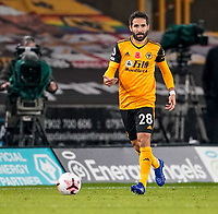 30th October 2020; Molineux Stadium, Wolverhampton, West Midlands, England; English Premier League Football, Wolverhampton Wanderers versus Crystal Palace; João Moutinho of Wolverhampton Wanderers brings the ball forward