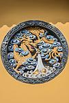 China, Shangahi, Jade Buddha Temple Dragon Bas Relief