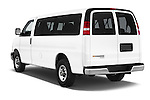 Car pictures of rear three quarter view of a 2014 Chevrolet Express 2500 LS 2 Door Van angular rear