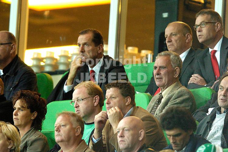 groningen - fc utrecht  eredivisie seizoen 2007-2008 14-09- 2007 van dop op de tribune