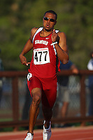 4 May 2008: Stanford Cardinal Durell Coleman during Stanford's Payton Jordan Cardinal Invitational at Cobb Track & Angell Field in Stanford, CA.