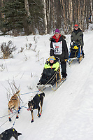 Andrew Letzring w/Iditarider on Trail 2005 Iditarod Ceremonial Start near Campbell Airstrip Alaska SC