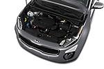 Car stock 2019 KIA Sportage EX 5 Door SUV engine high angle detail view
