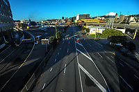 Waterloo Quay, Wellington CBD, at 8am, Wednesday during Level 4 lockdown for the COVID-19 pandemic in Wellington, New Zealand on Thursday, 19 August 2021.