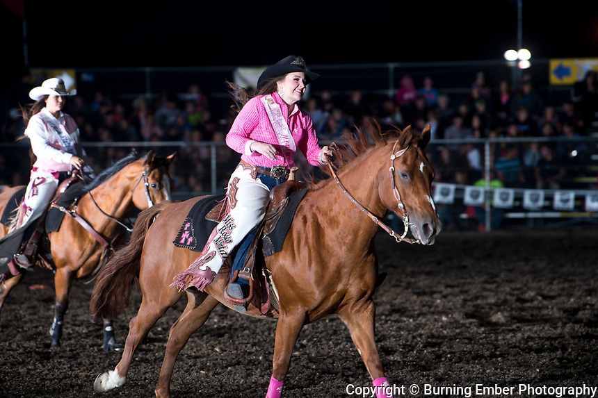 Miss Rodeo Montana, Kaitlyn Kolka during the 1st perf at the Gem State Stampede August 24th, 2018 1st perf in Couer D'Alene ID.  Photo by Josh Homer/Burning Ember Photography.  Photo credit must be given on all uses.
