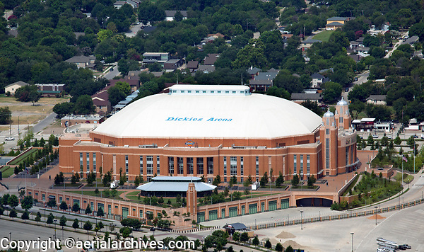 aerial photograph of Dickies Arena, Fort Worth, Texas