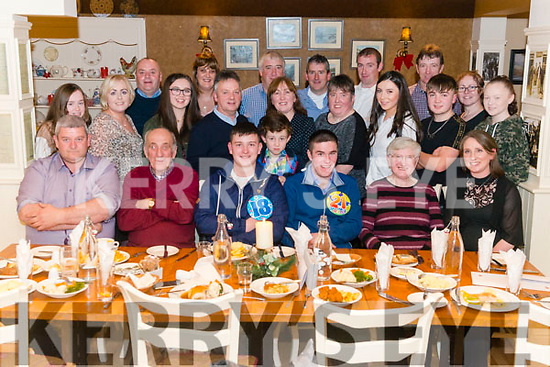 Jamie and Colin O'Sullivan from Beaufort celebrated their 18th and 21st birthday surrounded by friends and family in the Kate Kearney Cottage, Gap of Dunloe lastSaturday night.