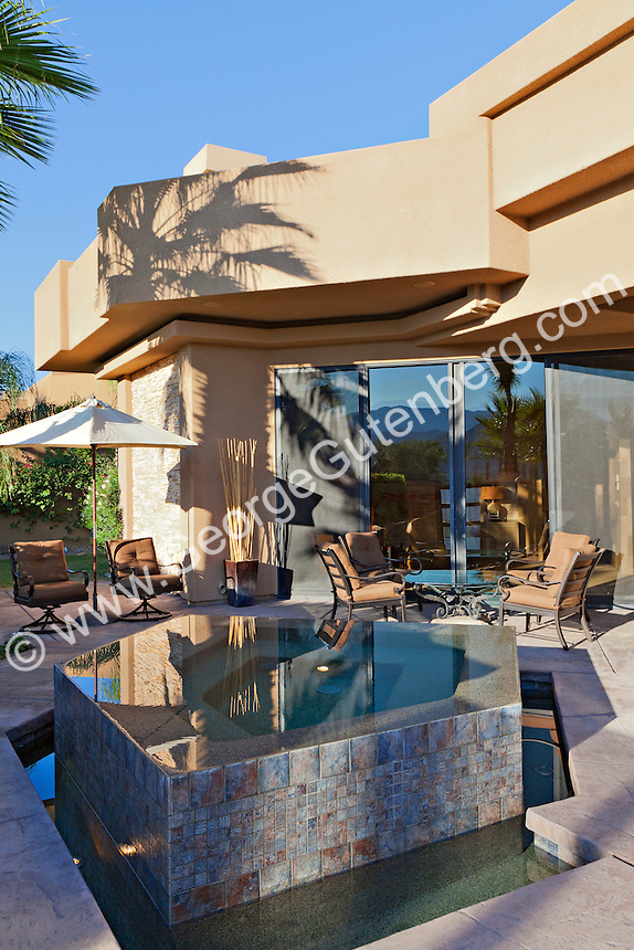 Stock image of residential spa