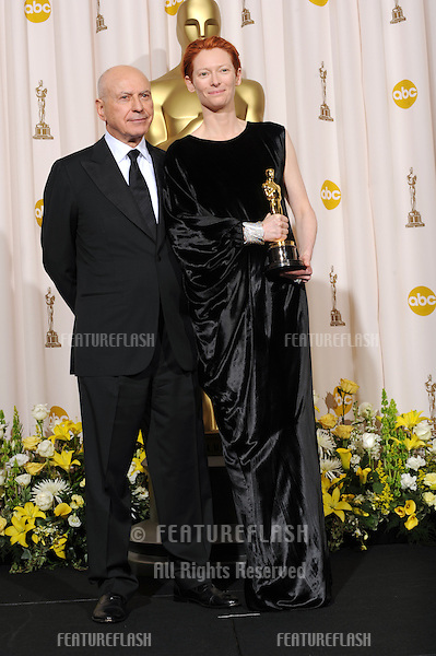Tilda Swinton & Alan Arkin at the 80th Annual Academy Awards at the Kodak Theatre, Hollywood..February 24, 2008 Los Angeles, CA.Picture: Paul Smith / Featureflash