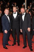 Ben Foster, David MacKenzie, Chris Pine - CANNES 2016 - MONTEE DES MARCHES DU FILM 'HANDS OF STONE'
