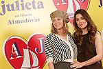 Spanish actresses Emma Suarez (l) and Adriana Ugarte attend the photocall of presentation of the Pedro Almodovar's new film 'Julieta'. April 4, 2016. (ALTERPHOTOS/Acero)