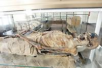 Mummie nel Museo Egizio di Torino.<br /> Mummies in the Egyptian Museum of Turin.<br /> UPDATE IMAGES PRESS/Riccardo De Luca