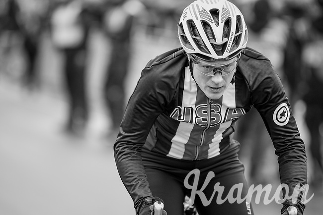 Katie Kompton (USA) on her way to the race start<br /> <br /> Women's Race<br /> UCI 2017 Cyclocross World Championships<br /> <br /> january 2017, Bieles/Luxemburg
