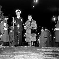 SMadame vanier lors des Obseques de son epoux , feu general Vanier, le 4 mai 1967 a la Basilique-Cathedrale Notre-Dame-de-Quebec<br /> <br /> Photographe : Photo Moderne<br /> - Agence Quebec Presse