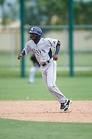 GCL Rays left fielder Ryan Calloway (49) leads off second during the first game of a doubleheader against the GCL Red Sox on August 9, 2016 at JetBlue Park in Fort Myers, Florida.  GCL Rays defeated GCL Red Sox 5-4.  (Mike Janes/Four Seam Images)