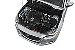 Car Stock 2018 Mazda Mazda3 Sport 4 Door Sedan Engine  high angle detail view
