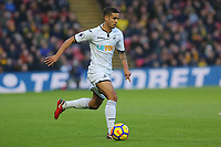 Kyle Naughton of Swansea City in action during the Premier League match between Watford and Swansea City at the Vicarage Road, Watford, England, UK. Saturday 30 December 2017