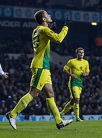 12.12.2013 London, England.Anzhi Makhachkala defender Ewerton (37) celebrates scoring during the Europa League game between Tottenham Hotspur and Anzhi Makhachkala from White Hart Lane.