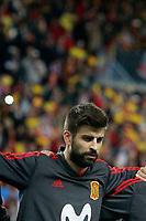 Spain's Gerard Pique during international friendly match. November 11,2017.(ALTERPHOTOS/Acero)