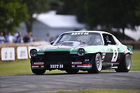 9th July 2021;  Goodwood  House, Chichester, England; Goodwood Festival of Speed; Day Two; Stuart Graham drives a Chevrolet Camaro Z2B Group 2 in the Goodwood Hill Climb