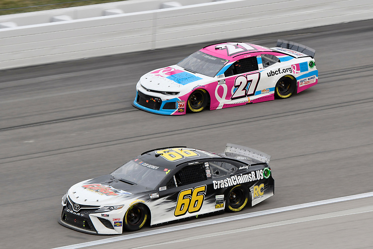 #66: Timmy Hill, Motorsports Business Management, Toyota Camry CrashClaimsR.US #27: J.J. Yeley, Rick Ware Racing, Ford Mustang