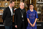 "British actor Joseph Fiennes, parish priest and Argentinian actress Maria Botto during the presentation of the film ""Resucitado"" at the church of San Antonio de los Alemanes in Madrid, March 16, 2016. (ALTERPHOTOS/BorjaB.Hojas) during the presentation of the film ""Resucitado"" at the church of San Antonio de los Alemanes in Madrid, March 16, 2016. (ALTERPHOTOS/BorjaB.Hojas)"