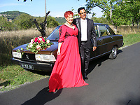 mariage de fabienne THIBAULT avec Christian Montagnac à castelnaud la chapelle le 22 août 2015, parc des Milandes ancienne propriété de Joséphine Baker <br /> <br /> <br /> <br /> pas de credit;--merci<br /> <br /> <br /> <br /> -----------<br /> ©  DANISKA/DALLE