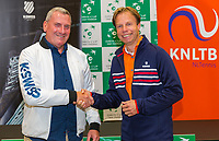 The Hague, The Netherlands, September 15, 2017,  Sportcampus , Davis Cup Netherlands - Chech Republic, Contract K-Swiss and KNLTB<br /> Photo: Tennisimages/Henk Koster