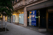 New York, New York<br /> August 30, 2020<br /> <br /> Manhattan post-pandemic. Closed shops on Madison Avenue.