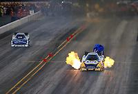 Jul. 25, 2014; Sonoma, CA, USA; NHRA funny car driver Ron Capps during qualifying for the Sonoma Nationals at Sonoma Raceway. Mandatory Credit: Mark J. Rebilas-