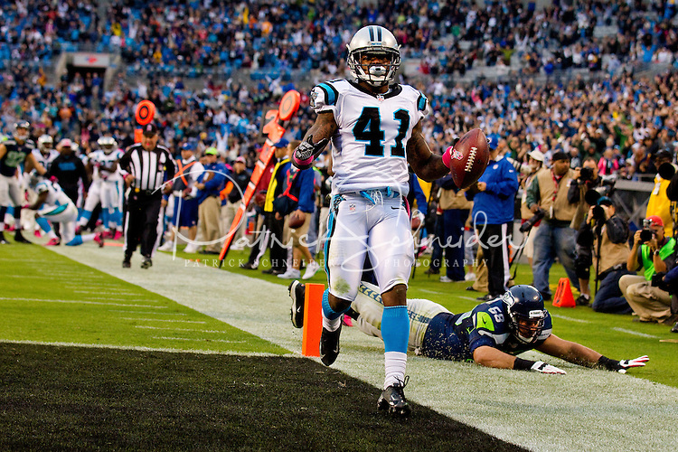 The Carolina Panthers vs. the Seattle Seahawks at Bank of America Stadium in Charlotte, North Carolina.Photos by: Patrick Schneider Photo.com