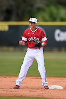 Indiana Hoosiers Nick Ramos (1) during practice before a game against the St. Joseph's Hawks on March 7, 2015 at North Charlotte Regional Park in Port Charlotte, Florida.  Indiana defeated St. Joseph's 3-2.  (Mike Janes/Four Seam Images)
