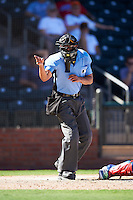 Umpire Roberto Ortiz during an Arizona Fall League game between the Salt River Rafters and Surprise Saguaros on October 17, 2016 at Surprise Stadium in Surprise, Arizona.  Surprise defeated Salt River 3-1.  (Mike Janes/Four Seam Images)