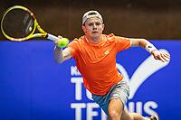 Alphen aan den Rijn, Netherlands, December 18, 2019, TV Nieuwe Sloot,  NK Tennis, Jesper de Jong (NED)<br /> Photo: www.tennisimages.com/Henk Koster