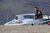 Nov. 1, 2008; Las Vegas, NV, USA: NHRA pro stock driver Ben Watson during qualifying for the Las Vegas Nationals at The Strip in Las Vegas. Mandatory Credit: Mark J. Rebilas-