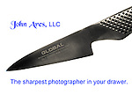 Global Paring Knife shot in high key.  Slogan also shown as caption John Ares,LLC is the sharpest photographer in your drawer.
