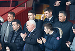 07.04.2019 Motherwell v Rangers: Steven Gerrard in the stars all wired up