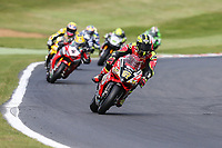 Shane Byrne of the Be Wiser Ducati team (No. 67) on his way to his second victory of the day to complete a double win in the 2017 BSB Round 6 - Brands Hatch GP Circuit at Brands Hatch, Longfield, England on Sunday 23 July 2017. Photo by David Horn/PRiME Media Images