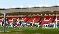 23rd April 2021; Ashton Gate Stadium, Bristol, England; Premiership Rugby Union, Bristol Bears versus Exeter Chiefs; Tom O'Flaherty of Exeter Chiefs scores a try