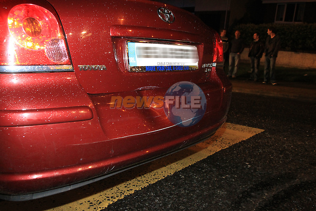 The scene of a minor accident on the Rathmullen road, a White Van was in collision with the back bumper of a taxi, some of the occupants of the taxi were removed to Our Lady of Lourdes hospital by Ambulance..Picture  www.newsfile.ie..