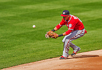 20 April 2013: Washington Nationals shortstop Ian Desmond in action against the New York Mets at Citi Field in Flushing, NY. The Nationals defeated the Mets 7-6 to tie their 3-game series at one a piece. Mandatory Credit: Ed Wolfstein Photo *** RAW (NEF) Image File Available ***